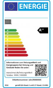 Effizienzlabel für Heizungsaltanlagen (Bildquelle: BMWi)