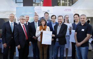 Die Preisträger und Redner des Science2Start-Ideenwettbewerbs 2017. (Bildquelle: BioRegio STERN/Anne Faden)